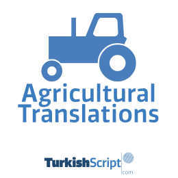english to turkish agricultural translation