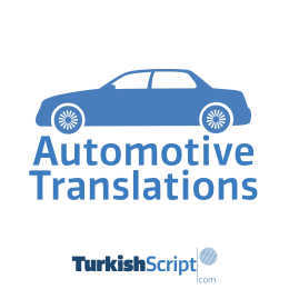 english to turkish automotive translation