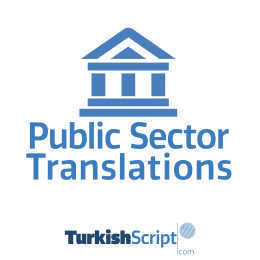 english to turkish public sector translation
